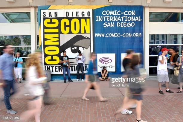 San Diego prepares for 2012 ComicCon at the San Diego Convention Center on July 11 2012 in San Diego California
