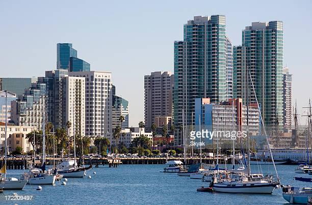 サンディエゴの街並みと湾の眺め