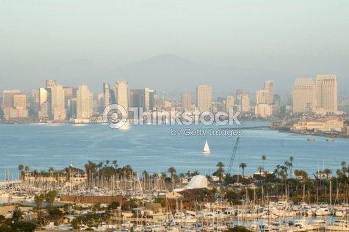 San Diego Skyline Day Stock Photo