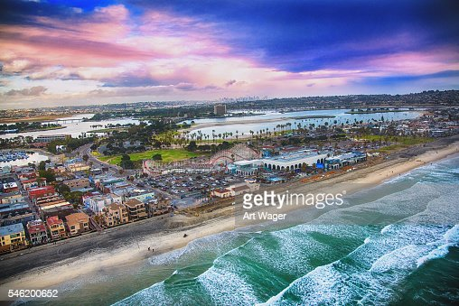 San Diego's Mission Beach Aerial View