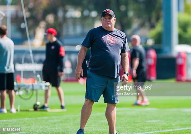 San Francisco 49ers Head Coach Chip Kelly during the San Francisco 49ers training camp at SAP Performance Facility in Santa Clara CA