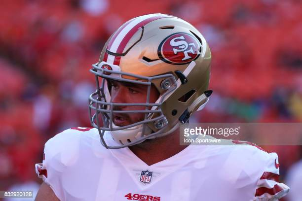 San Francisco 49ers offensive tackle Erik Magnuson before an NFL week 1 preseason game between the San Francisco 49ers and the Kansas City Chiefs on...