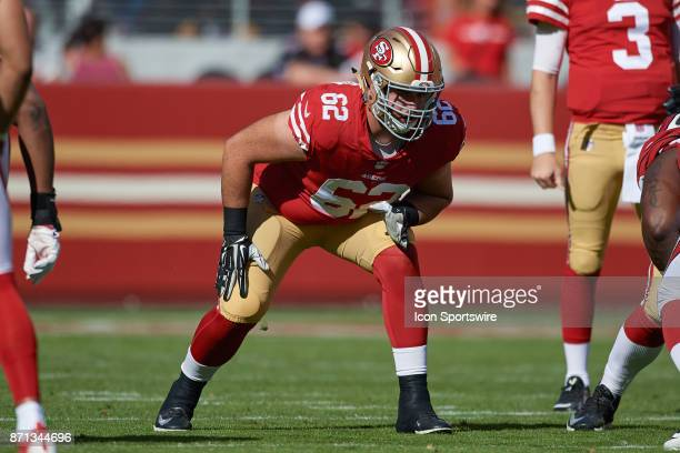 San Francisco 49ers offensive tackle Erik Magnuson gets ready block during an NFL game between the Arizona Cardinals and the San Francisco 49ers on...