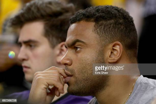 San Francisco 49ers player Solomon Thomas attends Game 2 of the 2017 NBA Finals at ORACLE Arena on June 4 2017 in Oakland California NOTE TO USER...