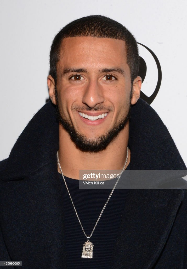San Francisco 49ers quarterback <a gi-track='captionPersonalityLinkClicked' href=/galleries/search?phrase=Colin+Kaepernick&family=editorial&specificpeople=5525694 ng-click='$event.stopPropagation()'>Colin Kaepernick</a> attends KWL's 4th Annual Sports and Entertainment Celebration Honoring NFL's Rising Stars <a gi-track='captionPersonalityLinkClicked' href=/galleries/search?phrase=Colin+Kaepernick&family=editorial&specificpeople=5525694 ng-click='$event.stopPropagation()'>Colin Kaepernick</a> and Robert Quinn at Manon on January 30, 2014 in New York City.