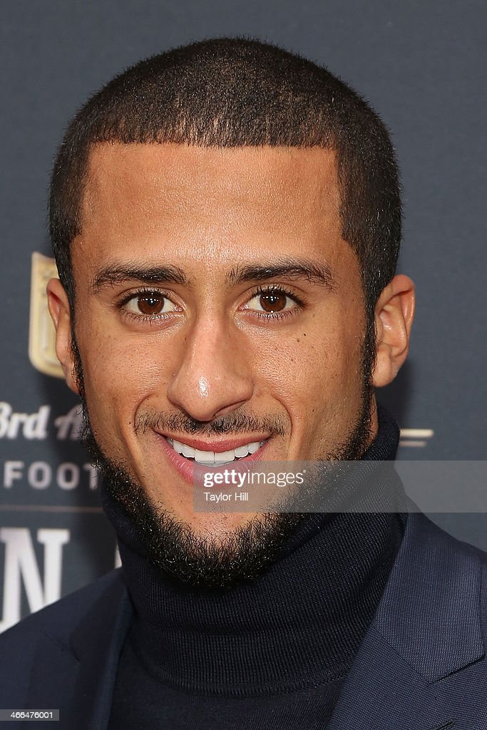 San Francisco 49ers quarterback <a gi-track='captionPersonalityLinkClicked' href=/galleries/search?phrase=Colin+Kaepernick&family=editorial&specificpeople=5525694 ng-click='$event.stopPropagation()'>Colin Kaepernick</a> attends the 3rd Annual NFL Honors at Radio City Music Hall on February 1, 2014 in New York City.