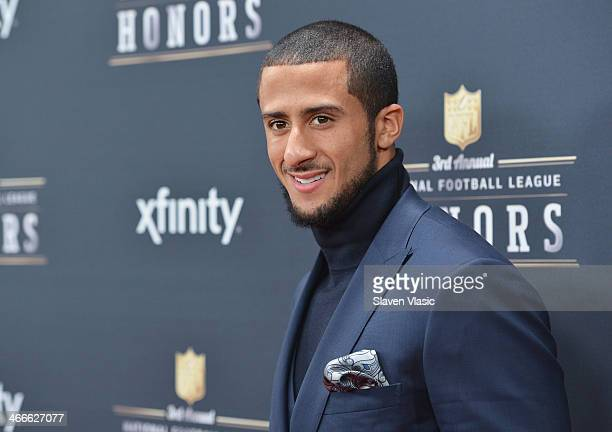 San Francisco 49ers quarterback Colin Kaepernick attends the 3rd Annual NFL Honors at Radio City Music Hall on February 1 2014 in New York City