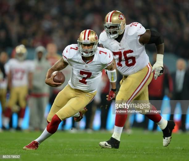 San Francisco 49ers' quarterback Colin Kaepernick in action