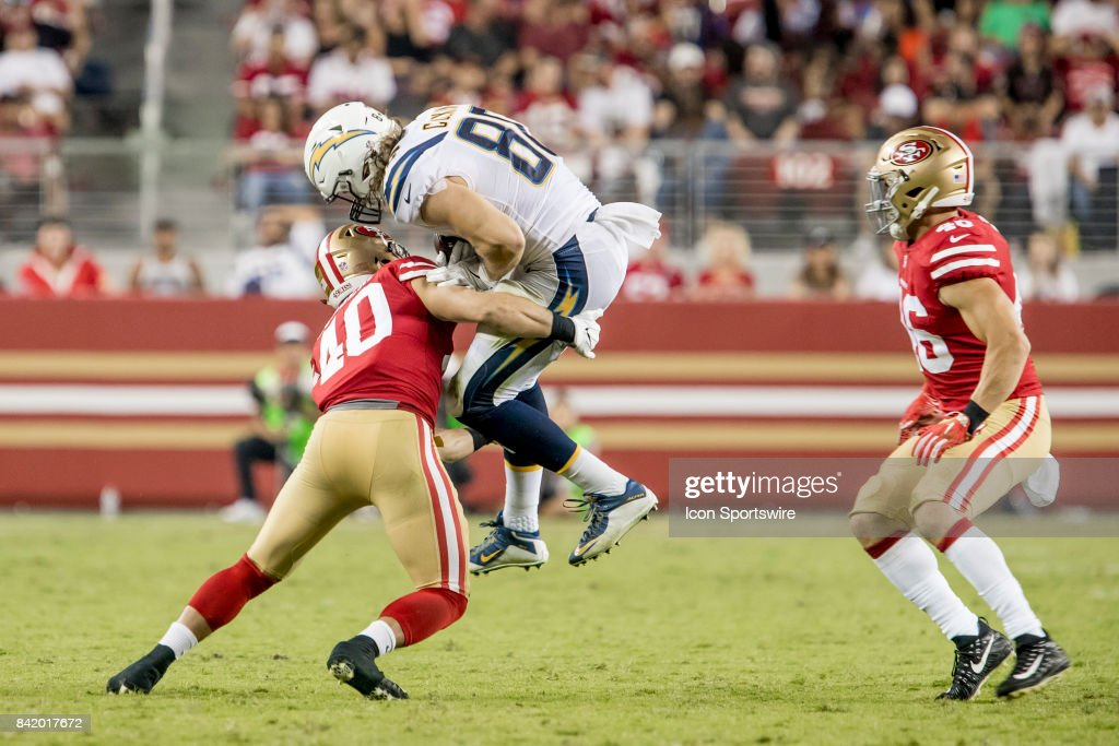 ... San Francisco 49ers Safety Vinnie Sunseri (40) stops Los Angeles  Chargers Tight End Sean ... 1375a1f67