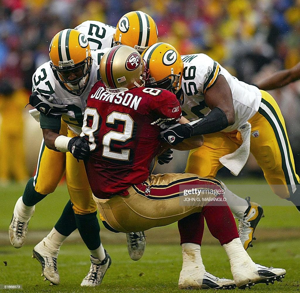 San Francisco 49ers tight end Eric Johnson C is