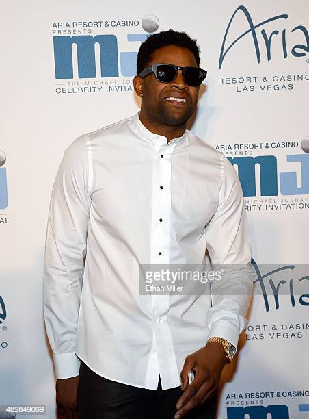 San Francisco 49ers wide receiver Michael Crabtree arrives at the 13th annual Michael Jordan Celebrity Invitational gala at the ARIA Resort Casino at...