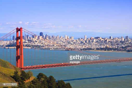 San Francisco and Golden Gate Bridge
