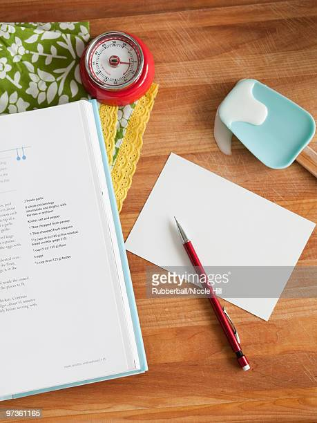 USA, San Francisco, California, assorted objects on wooden table