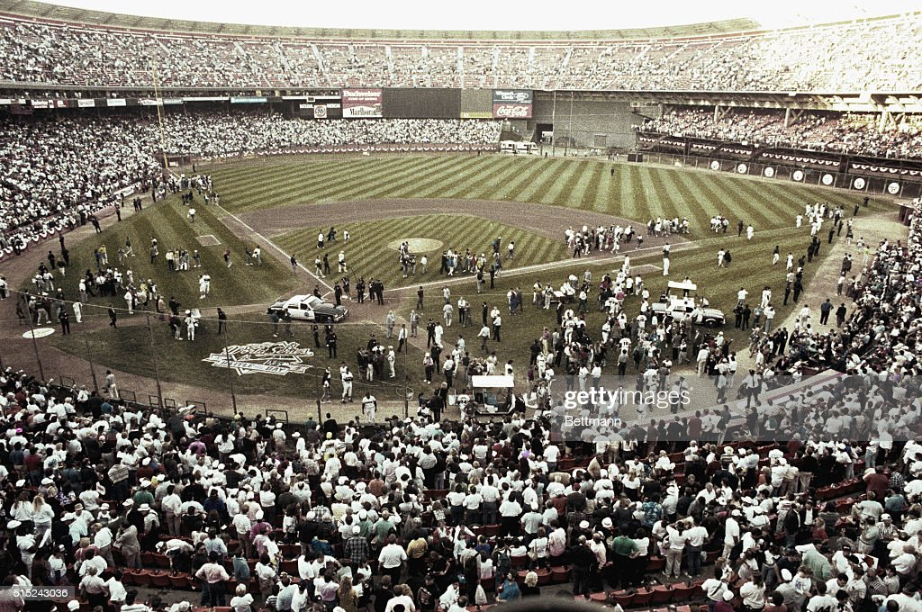 San Francisco California Candlestick Park after an earthquake cancelled game 3 of the World Series 10/17