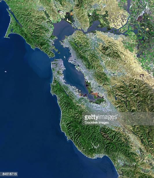 San Francisco, California, satellite view