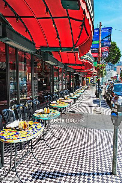 San Francisco Dining Outside  Restaurant on Columbus Avenue