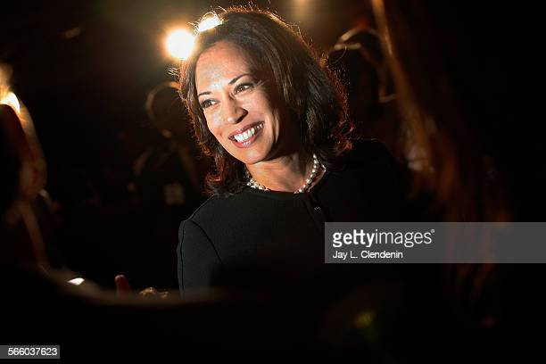 San Francisco District Attorney Kamala Harris was one of six candidates taking part in the democratic primary debate for Attorney General at the...