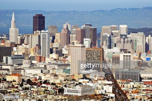 Luftaufnahme der Innenstadt von San Francisco