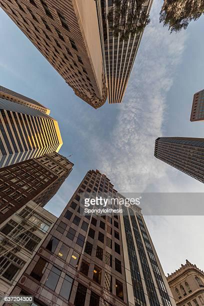 San Francisco Downtown Market Street Building View at Holiday, CA