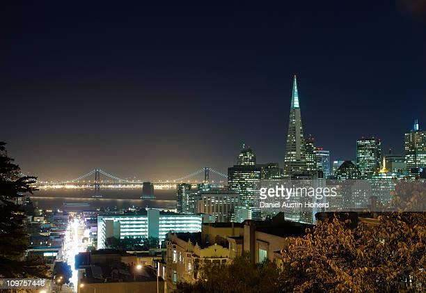 San Francisco Financial District at night