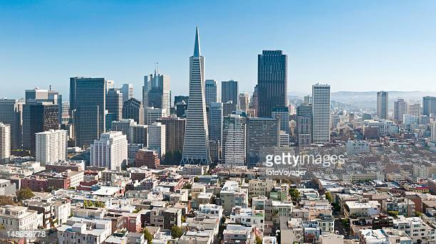 San Francisco Financial District downtown skyscrapers Transamerica Pyramid California cityscape