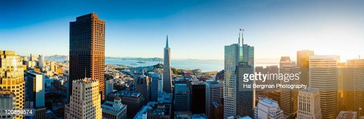 San Francisco financial district panorama