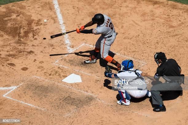San Francisco Giants center fielder Denard Span during the MLB regular season game between the San Francisco Giants and the Los Angeles Dodgers at...