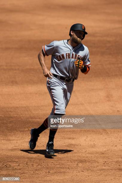 San Francisco Giants right fielder Hunter Pence during the MLB regular season game between the San Francisco Giants and the Los Angeles Dodgers at...