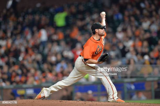 San Francisco Giants Starting pitcher Matt Moore pitches during the San Francisco Giants versus Philadelphia Phillies game at ATT Park on August 18...