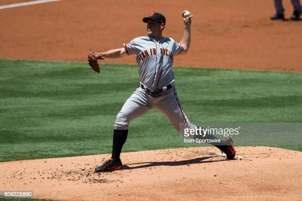 San Francisco Giants starting pitcher Ty Blach during the MLB regular season game between the San Francisco Giants and the Los Angeles Dodgers at...