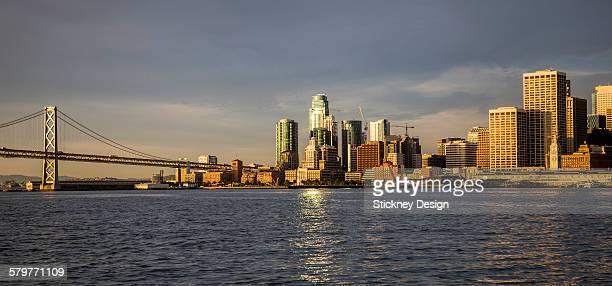 San Francisco gold waterfront sunrise