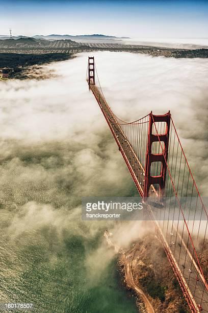 San Francisco Golden Gate Bridge from aircraft