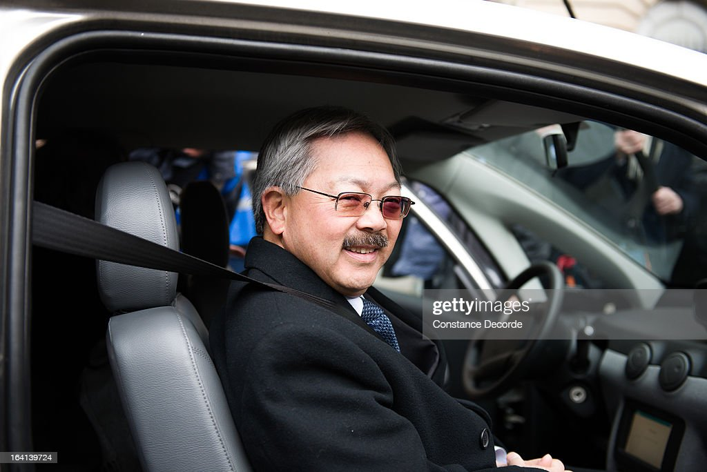 San Francisco Mayor <a gi-track='captionPersonalityLinkClicked' href=/galleries/search?phrase=Ed+Lee+-+Politician&family=editorial&specificpeople=5122386 ng-click='$event.stopPropagation()'>Ed Lee</a> makes an official visit for the Autolib presentation, on March 20, 2013 in Paris, France.