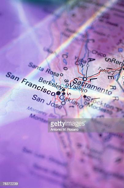 San Francisco on map
