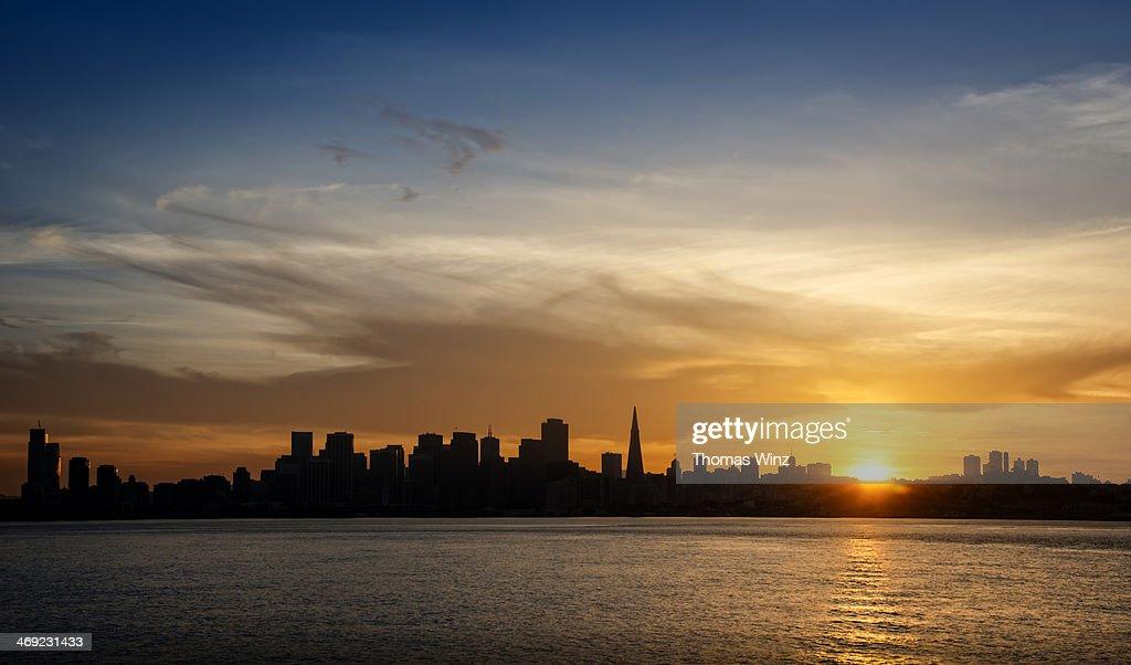 San Francisco Skyline at sunset : Stock Photo