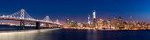 Panoramic shot of San Francisco Skyline during twilight.