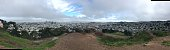 Panoramas of the San Francisco skyline as seen from Corona Heights