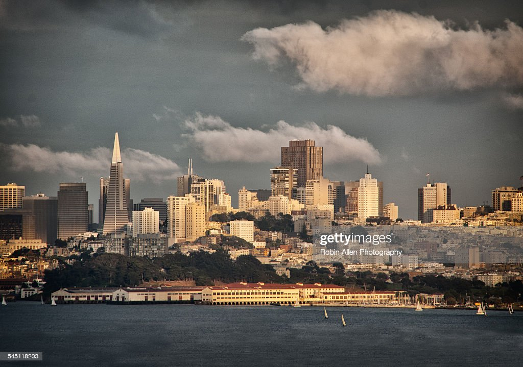 San Francisco skyline & waterfront from Sausalito