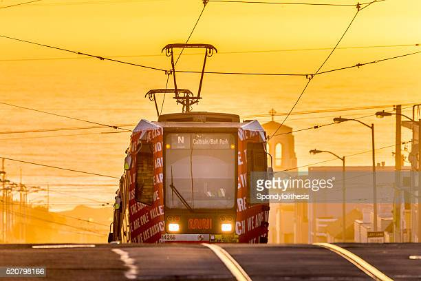 San Francisco street car at Sunset