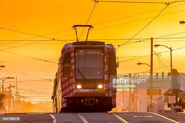 San Francisco street car at Sunset