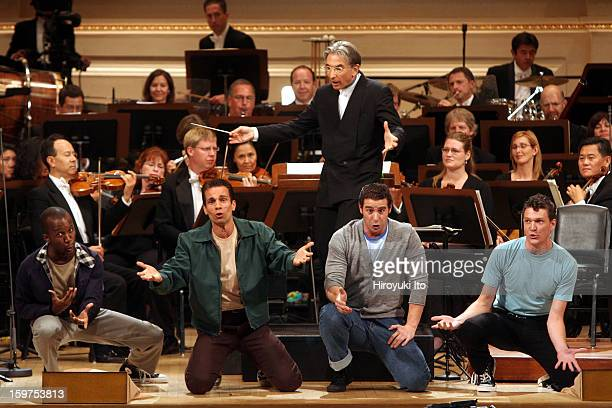 San Francisco Symphony performing all Bernstein program at the opening night gala at Carnegie Hall on Wednesday night September 24 2008This...