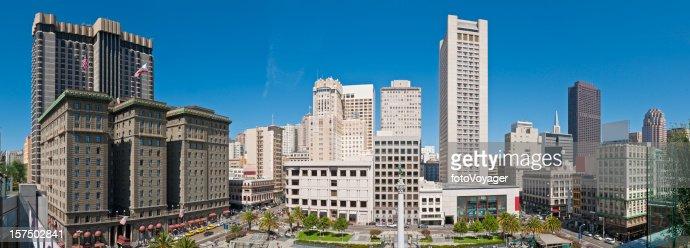 San Francisco Union Square Einkaufsmöglichkeiten in der Innenstadt Stadtansicht panorama, Kalifornien