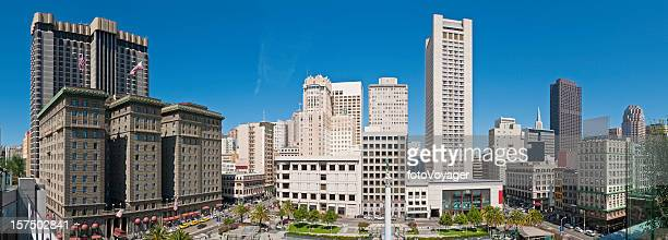 San Francisco Union Square downtown shopping cityscape panorama California