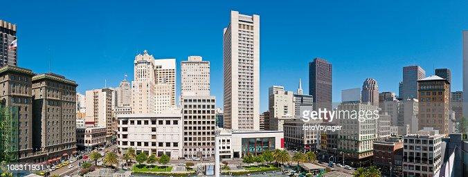 San Francisco Union Square hotels in der Innenstadt Wolkenkratzer stores panorama, Kalifornien