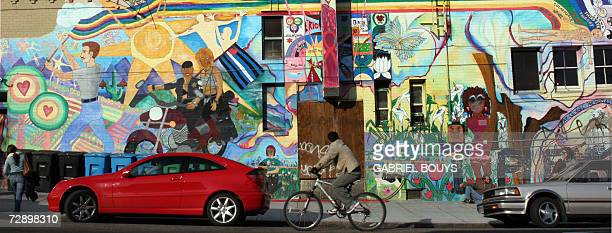A mural is pictured in the Castro District of San Francisco 23 December 2006 The Castro is the center of Gay life in the city AFP PHOTO/GABRIEL BOUYS