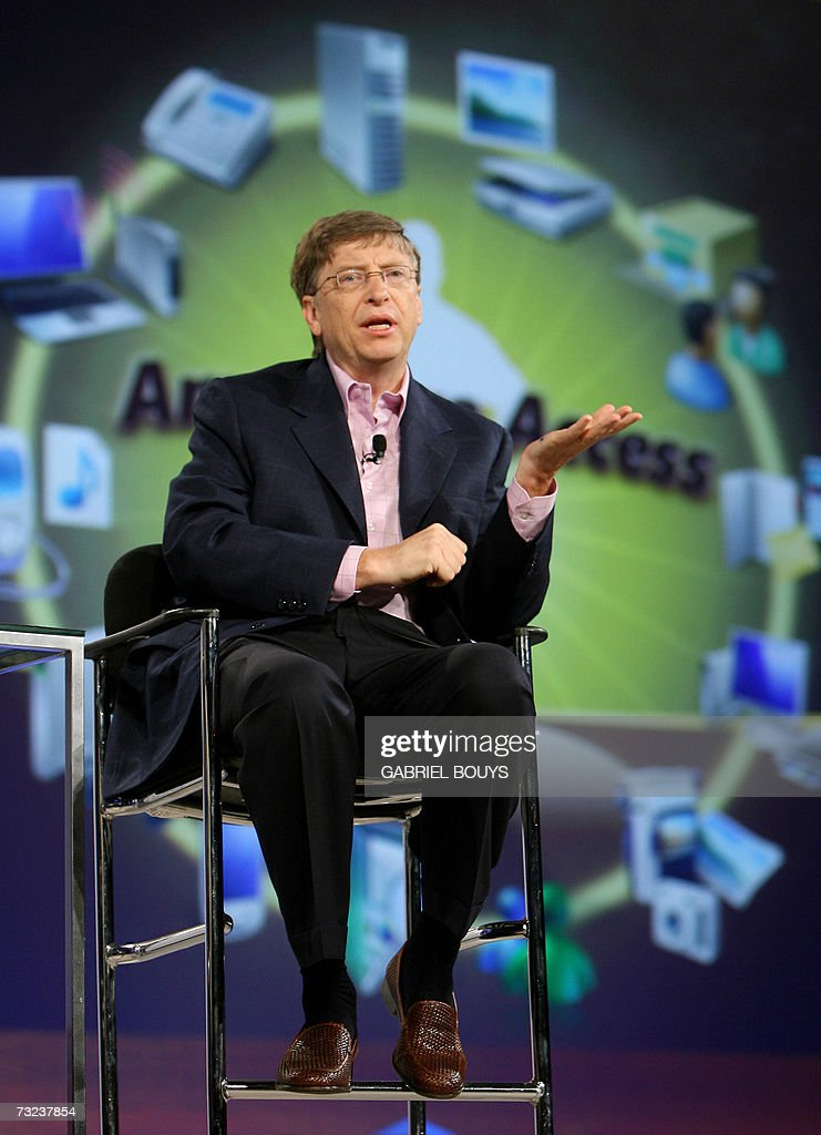 Bill Gates of Microsoft attends the opening of the RSA conference at the Moscone Center 06 February 2007 in San Francisco, California. RSA is the world's largest computer security conference. AFP PHOTO/GABRIEL BOUYS