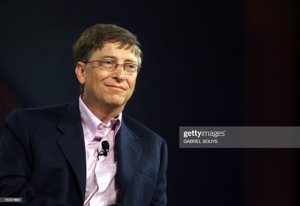 Bill Gates of Microsoft is seen during the opening keynote at the RSA conference at the Moscone Center 06 February, 2007 in San Francisco, California. RSA is the worlds largest computer security conference. AFP PHOTO/ GABRIEL BOUYS