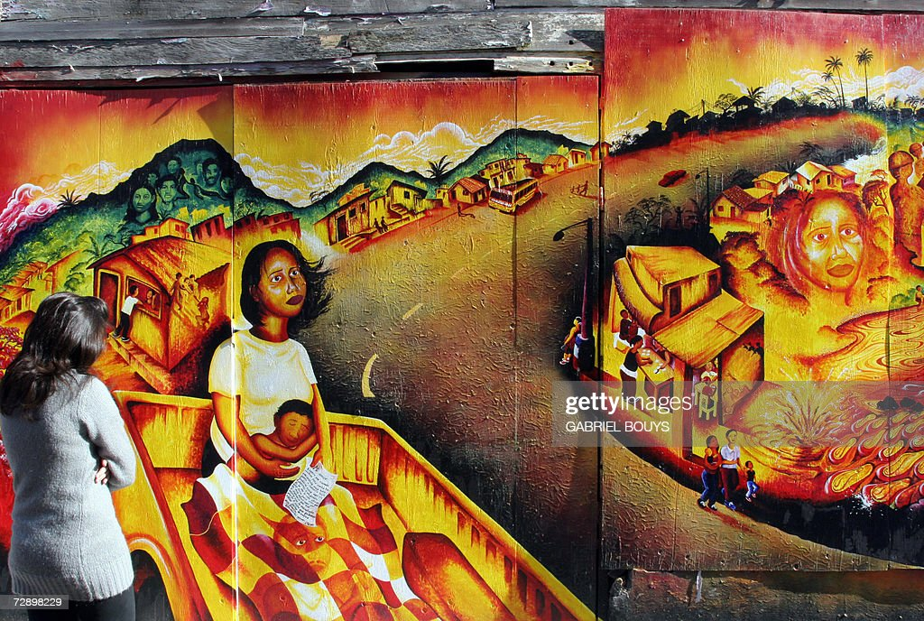 Murals are seen 23 December 2006 on Balmy Street in San Francisco's Mission District a predominantly workingclass area populated by immigrants from...