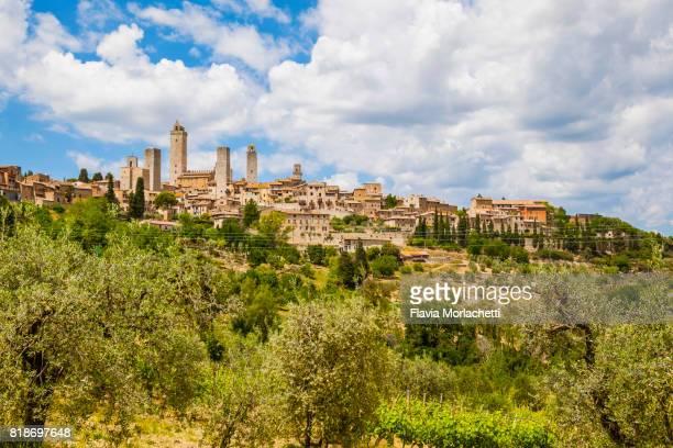 San Gimignano medieval skyline, Tuscany