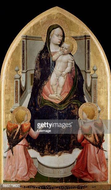 San Giovenale Triptych or Cascia Altarpiece Virgin with Child Painting by Tommaso di ser Giovanni di Mone Cassai called Masaccio 1422 Museo Masaccio...